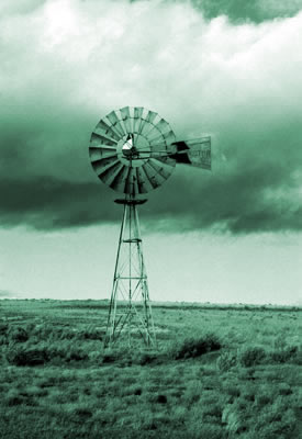 picture of old wind mill